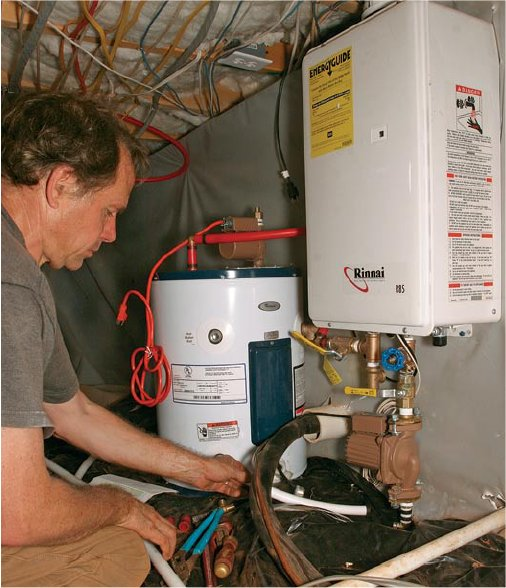 a small tank to a tankless hot water heater can be a smart thing to do.